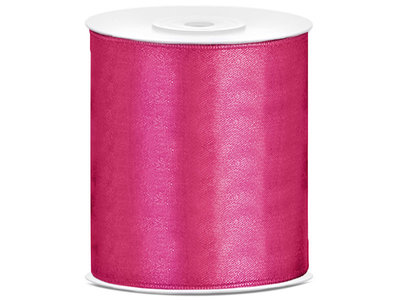Satijn lint 100 mm Fuchsia