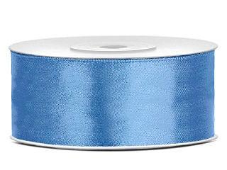 satijn lint 25 mm Vintage blauw