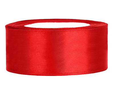 Satijn lint 2.5 cm breed rood 4 meter