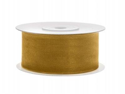 Organza lint 38 mm goud
