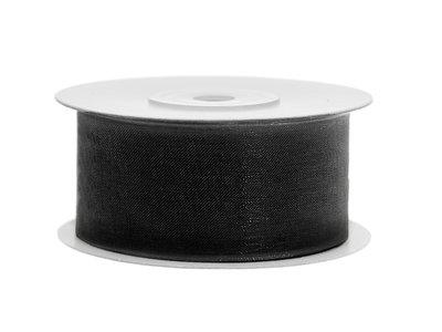 Organza lint 38 mm zwart